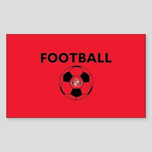 Sunderland Soccer Ball- full b Sticker (Rectangle)