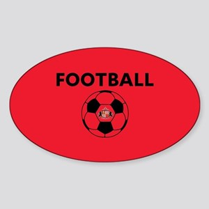 Sunderland Soccer Ball- full bleed Sticker (Oval)