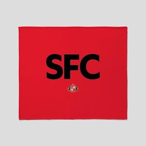 Sunderland SFC dark-full bleed Throw Blanket