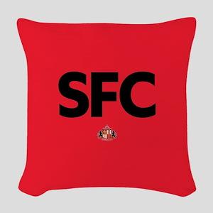 Sunderland SFC dark-full bleed Woven Throw Pillow