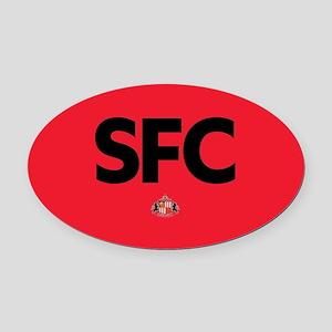 Sunderland SFC dark-full bleed Oval Car Magnet