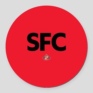 Sunderland SFC dark-full bleed Round Car Magnet