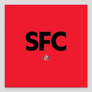 """Sunderland SFC dark-full Square Car Magnet 3"""" x 3"""""""
