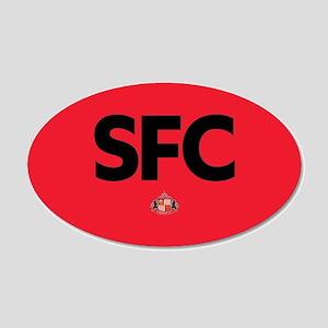 Sunderland SFC dark-full ble 20x12 Oval Wall Decal