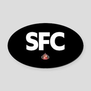 Sunderland SFC -full bleed Oval Car Magnet