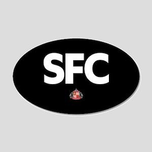 Sunderland SFC -full bleed 20x12 Oval Wall Decal