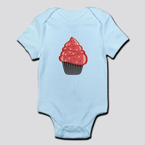 Red Cupcake With Sprinkles Body Suit