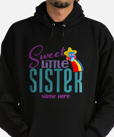 Personalized Name Sweet Little Sister Hoodie