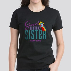 Personalized Name Sweet Little Sister T-Shirt