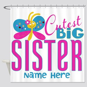 Personalized Big Sister Shower Curtain
