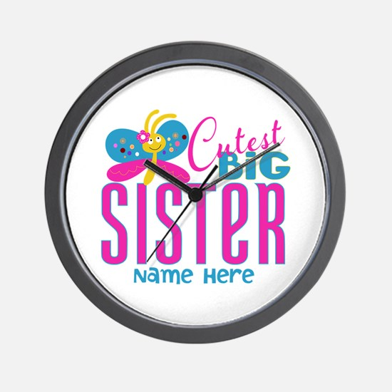 Personalized Big Sister Wall Clock