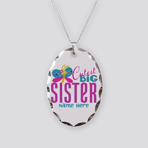 Personalized Big Sister Necklace Oval Charm