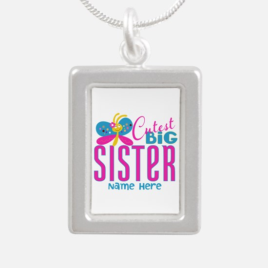 Personalized Big Sister Silver Portrait Necklace