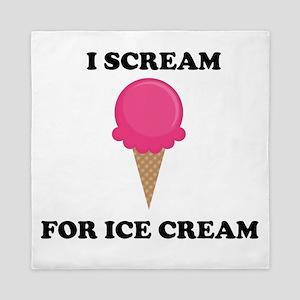 I Scream For Ice Cream (Pink) Queen Duvet