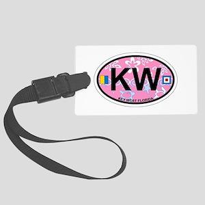 Key West - Oval Design. Large Luggage Tag