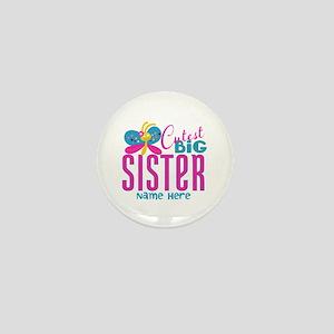 Personalized Big Sister Mini Button