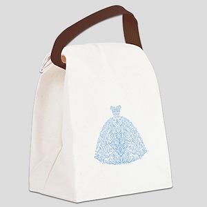 Wedding Dress Blue Canvas Lunch Bag