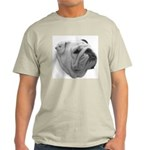 BULLDOG SMILES Ash Grey T-Shirt