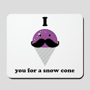 I Mustache You For A Purple Snow Cone Mousepad