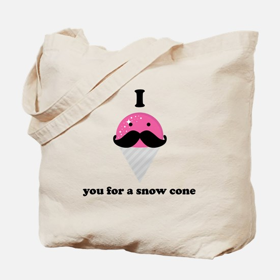 I Mustache You For A Pink Snow Cone Tote Bag