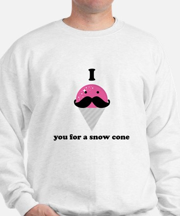 I Mustache You For A Pink Snow Cone Jumper