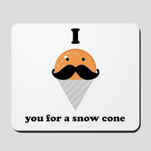 I Mustache You For A Orange Snow Cone Mousepad
