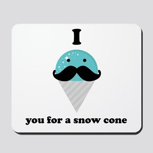 I Mustache You For A Blue Snow Cone Mousepad