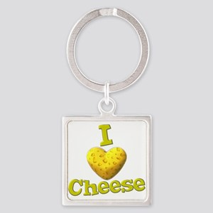 funny cute i heart love cheese cheesey heart Squar