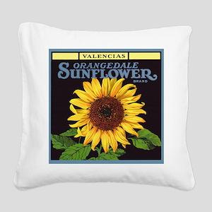 Vintage Fruit Crate Label Art, Sunflower Square Ca