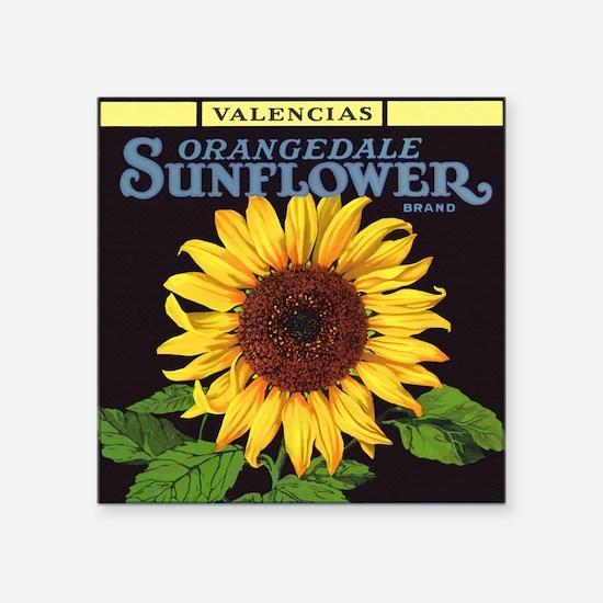 Vintage Fruit Crate Label Art, Sunflower Sticker