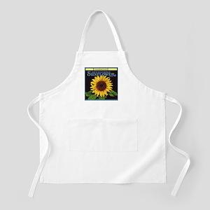 Vintage Fruit Crate Label Art, Sunflower Apron