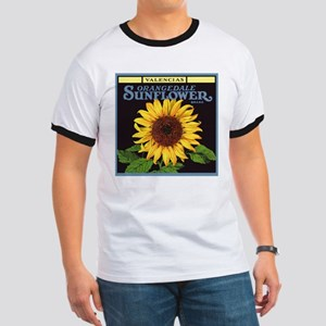 Vintage Fruit Crate Label Art, Sunflower T-Shirt