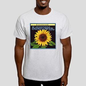 Vintage Fruit Crate Label Art, Sunflower T-Shirt