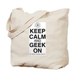 Keep Calm and Geek On Tote Bag