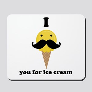 I Mustache You For Yellow Ice Cream Mousepad