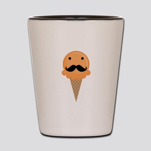 Orange Waffle Cone Mustache Face Shot Glass