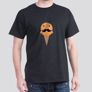 Orange Waffle Cone Mustache Face T-Shirt