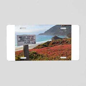 Private Coastline Aluminum License Plate