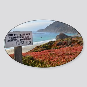 Private Coastline Sticker