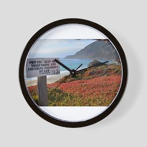 Private Coastline Wall Clock