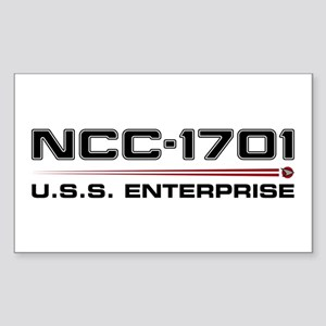 USS Enterprise Refit Dark Sticker