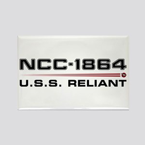 USS Reliant Dark Rectangle Magnet