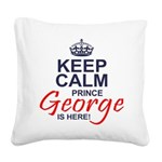 Prince George is Here Square Canvas Pillow