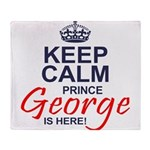 Prince George is Here Throw Blanket