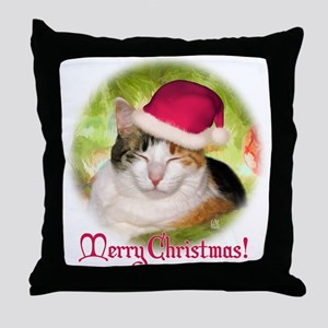 Christmas Calico Throw Pillow