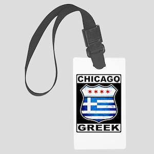 Chicago Greek American Sign Luggage Tag