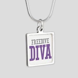 Freedive DIVA Silver Square Necklace