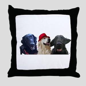 3 retrievers Throw Pillow