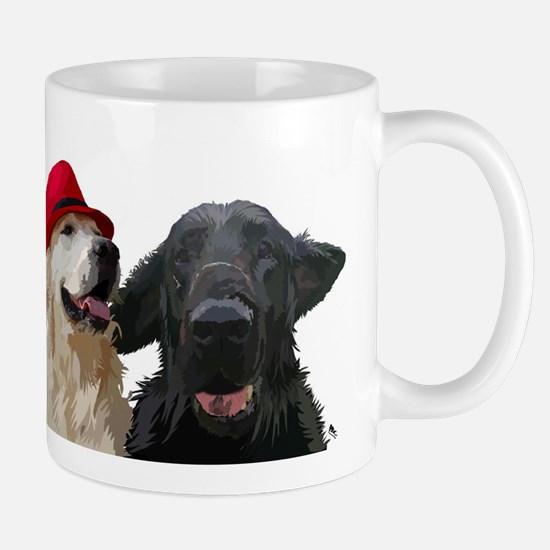 3 retrievers Small Mug