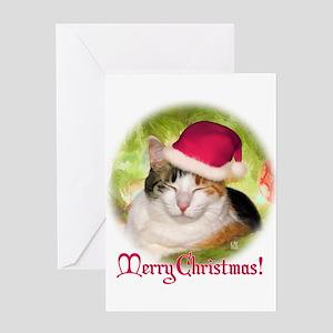 Christmas Calico Greeting Card